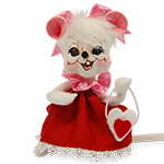 Annalee Sweetheart Girl Mouse 2016 - 6""