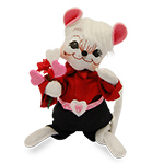 Annalee Sweetheart Boy Mouse 2016 - 6""