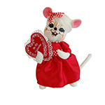 Annalee Valentine Girl Mouse 2014 - 6""