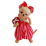 Annalee Sweetheart Girl Mouse 2014 - 8""