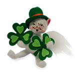 Annalee Shamrock Kitty 2016