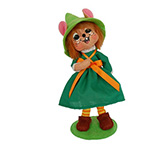 Annalee Leprechaun Girl Mouse 2014 - 6""