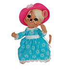 Annalee Spring Girl Mouse 2014 - 6""