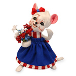 Annalee Patriotic Girl Mouse 2016