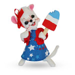 Annalee Patriotic Girl Mouse