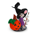 Annalee Pumpkin Painter Mouse 2016 - 5""