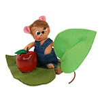 Annalee Apple Picking Mouse 2014