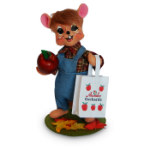 Annalee Apple Picking Boy Mouse 2016 - 6""