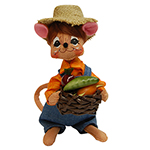 Annalee Harvest Boy Mouse 2015 - 6""
