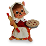 Annalee Cherry Pie Chef Mouse 2016 - 8""