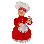 Annalee Mrs. Peppermint Chef Santa - 9""