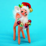 Annalee Fawn with Ornament Wreath 2008 - 5""