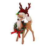 Annalee Holly Berry Reindeer - 12""