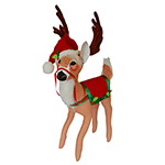 Annalee Holly Berry Reindeer - 26""