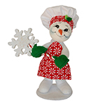 Annalee Peppermint Chef Snowman - 9""