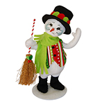 Annalee Red Jolly Lolli Snowman - 9""