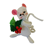 Annalee Holly Berry Mouse - 5""