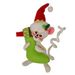 """Annalee Jolly Lolli Stocking Mouse - 5"""""""