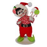 Annalee Peppermint Candy Mouse - 6""