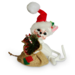 Annalee Rustic Yuletide Mouse 2016 - 6""