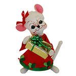 Annalee Holly Berry Girl Mouse - 6""