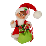 Annalee Jolly Lolli Santa Mouse - 6""