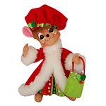 Annalee Mrs Jolly Lolli Santa Mouse - 6""