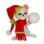Annalee Jolly Lolli Snowball Mouse - 6""