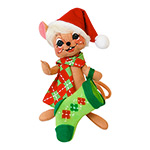 Annalee Cheery Stocking Mouse 2014
