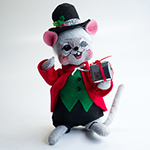Annalee Silver Sparkle Boy Mouse 2013/14 - 6""