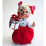 """Annalee Silver Sparkle Girl Mouse 2013/14 - 8"""""""