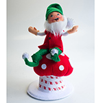 Annalee Silver Sparkle Woodsy Gnome 2013 - 6""