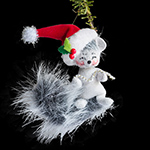 Annalee Silver Sparkle Squirrel Ornament 2013 - 3""