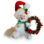 Annalee Rustic Yuletide Kitty Ornament 2016 - 3""