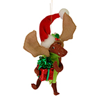 Annalee Gift Giving Moose Ornament - 4""
