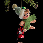 Annalee Alpine Mouse Ornament 2013 - 3""