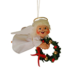 Annalee Angel with Wreath Ornament - 3""