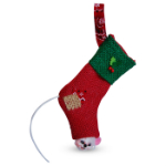 Annalee Rustic Yuletide Stocking Ornament 2016 - 3""