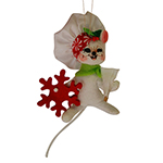 Annalee Peppermint Chef Mouse Ornament - 3""