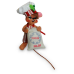 Annalee Chef Mouse Ornament 2016 - 3""