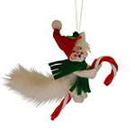Annalee Candycane Kitty Ornament 2015 - 3""