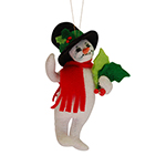 Annalee Holly Berry Snowman Ornament 2015 - 4""