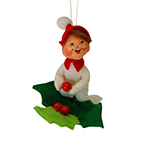 Annalee Holly Berry PJ Kid Ornament 2015 - 3""