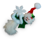 Annalee Snowflake Kitty Ornament 2016 - 3""