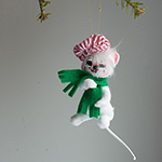 Annalee Engineer Mouse Ornament 2013 - 3""