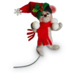 Annalee Snowball Mouse Ornament 2016 - 3""
