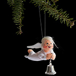 Annalee Silver Sparkle Angel Ornament 2013 - 3""