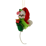 Annalee Santa Mouse Ornament 2015 - 3""