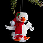 Annalee Silver Sparkle Duck Ornament 2013 - 3""