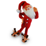 Annalee Bed Time Santa Ornament 2016 - 5""